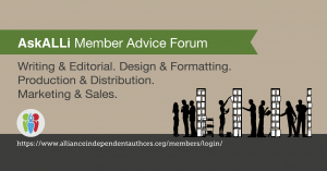 Alliance of Independent Authors Member Advice Forum